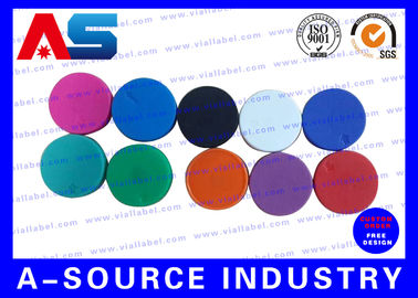 China Plain  Vial Glass Bottle Caps  Flip Off Lids For Serum Vials Various Colours supplier