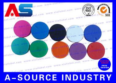 China Plain  Vial Glass Bottle Caps  Flip Off Lids For Serum Vials Various Colours supplier