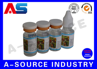 China Custom Private Vial Label for Essential Oil storage and Steroids Kit Packing supplier
