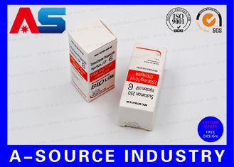 Biolab Security Carton Bottle Box 10ml Vial Boxes Embossed Spot UV Printing