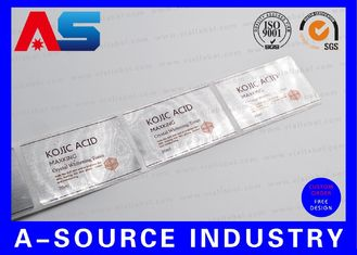 China Custom 30ml Vial Labels Brushed Aluminum Foil Printing For Pharma Grade Steroids supplier