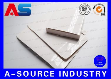 China Plain Paper 2ml 10pcs Blank Box White Box Cheap For 10ml vials With Plastic Trays Inside , Glossy Finish supplier