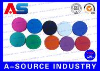 China Plain  Vial Glass Bottle Caps  Flip Off Lids For Serum Vials Various Colours factory
