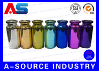China Colorful Small Glass Vials Bottles Embossed , 10ml Glass Dropper Bottles company