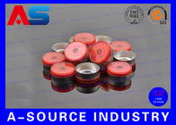 China Red Aluminum 20mm Flip Off Cap Chemistry Pharmaceutical Aluminium Bottle Caps factory