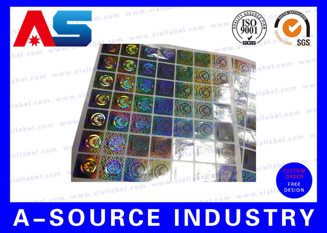 Anti fake hologram security stickers printing 3d hologram security labels tamper proof