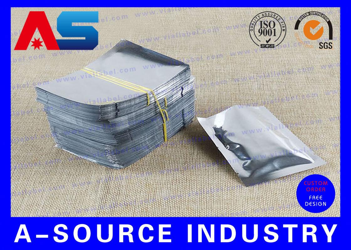 Silver Standing Up Plastic Aluminium Foil Bag For