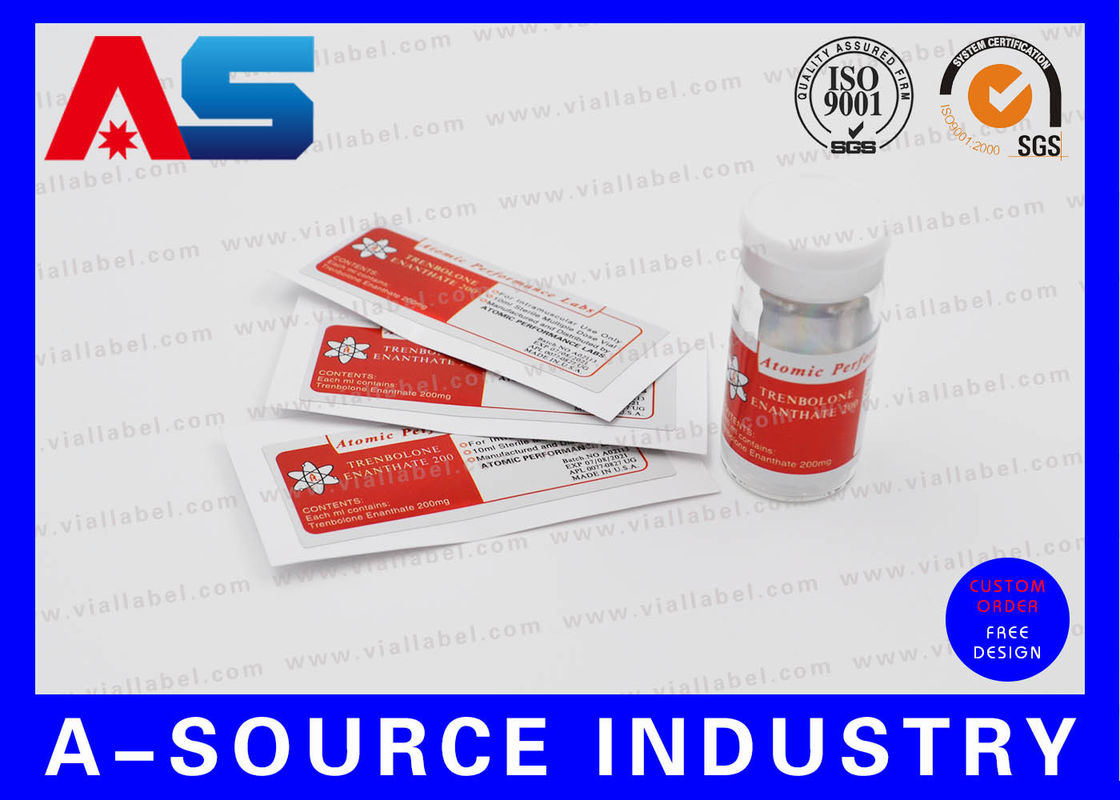 Testosterone Cypionate 200mg Pill Bottle Label With Laser
