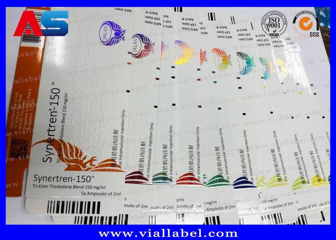 Waterproof Coated Paper 10ml Vial Boxes Testosterone