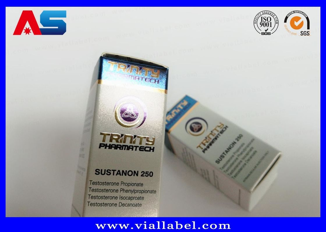 High Quality Bodybuilding Small Boxes For Vials Blue Box Pharmaceutical Packaging Anabolic Steroids
