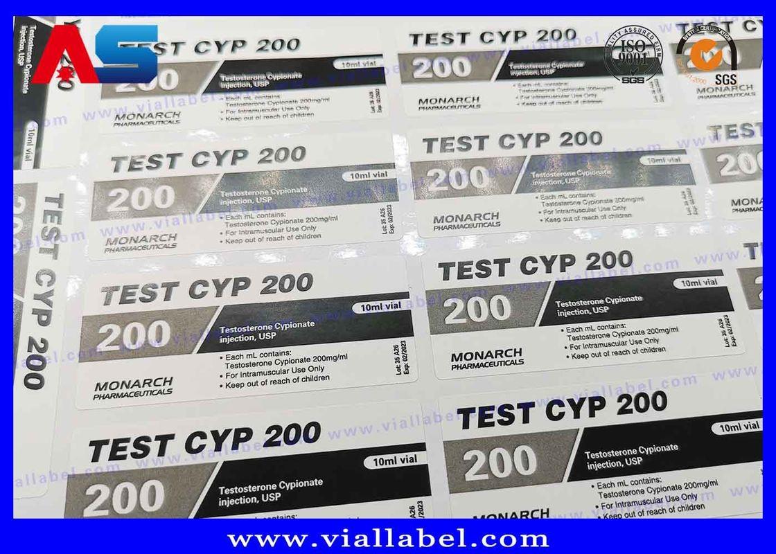 Adhesive Steroid Bottle Labels 10ml Custom Printing