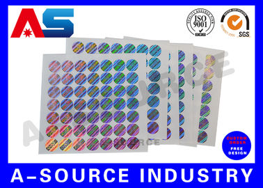 China Rainbow Color Custom Vinyl Decals Stickers Custom Holographic Labels distributor