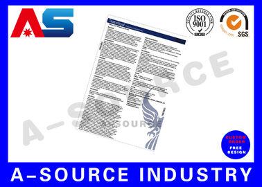 China Paper Flyer Custom Sticker Printing Medicine Leaflets  Full Color distributor