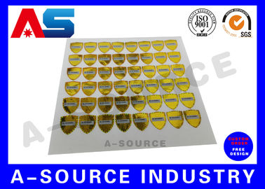 China Gold Security Anti Counterfeiting Custom Hologram Sticker With Serial Number / scratch overlay factory