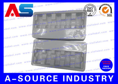 China White Plastic Blister Packaging For Glass Vials Packing With Embossing Logo distributor
