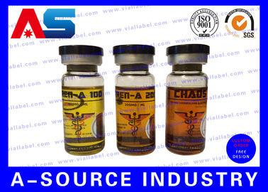 China 15ml Steroid Bottle Labels , Hologram Printed Personalized Bottle Labels distributor