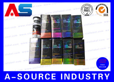 China Embossing Foil Laser Hologram Printed 10ml Vial Boxes For Chemical Oil Solution distributor