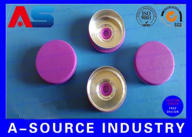 China Light Purple Color 20 mm Flip Off Cap with Aluminum Plastic Material ISO 9001 factory