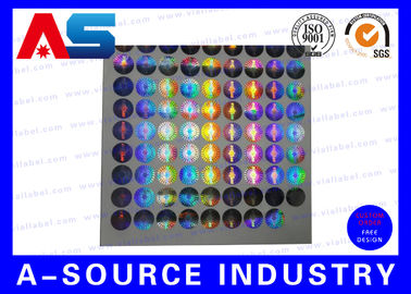 China Silver Security Custom Holographic Stickers Label Tamper Proof Seal Custom Design distributor