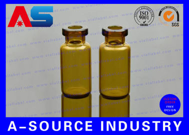 China Amber Little Glass Vials 10mL Bottle 22mm Wide 50mm Tall with Dropper Sealing distributor