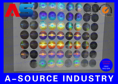 China 2cm Diameter Custom Holographic Stickers Anti - Counterfeiting PET Material factory