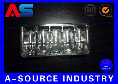 China Clear PVC Plastic Packaging Trays For Vaccines Vials 2mL / 3mL with Embossing Logo factory