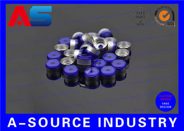 China 20mm Plastic Aluminum Lids Flip Off Cap Engraved Custom Logo With Vials Stoppers distributor