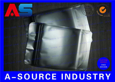 China Matt Black Heat Seal Aluminum Foil Bags With Zip Lock / Mylar Sleeves distributor