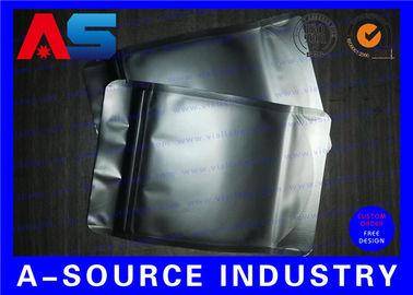 China Matt Black Heat Seal Aluminum Foil Bags With Zip Lock / Mylar Sleeves distributor