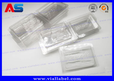 China PVC Clear Ampoule Blister Packaging Tray For Medication 2ml Vials  Engrave Embossing distributor