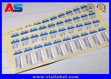 China ODM Steroid Bottle Labels Stickers For Injections Steroids Custom Silver Foil Printing distributor