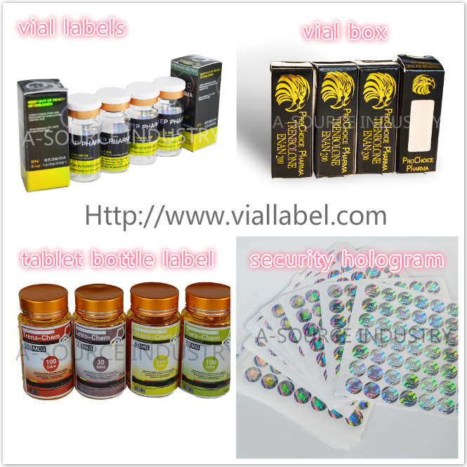 Custom Medication Blister Packaging For Pharmaceutical Glass Bottles / penicillin bottles