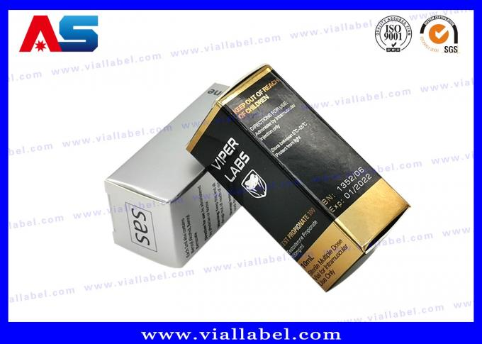 Waterproof Foldable Paper Box For Injection Glass Vials 10ml Custom Logo 6